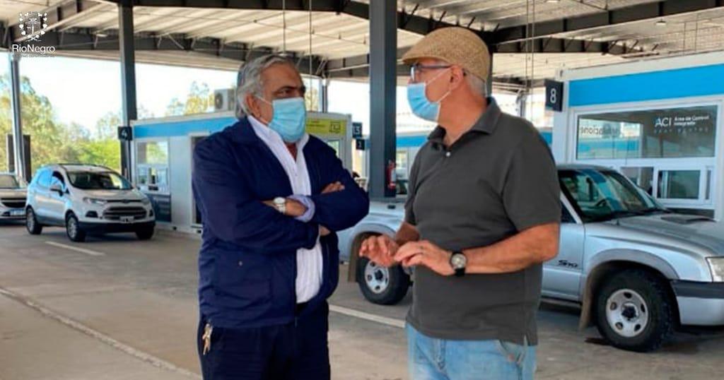 El Intendente Omar Lafluf concurrió al Paso de Frontera para constatar la tarea que se esta desarrollando